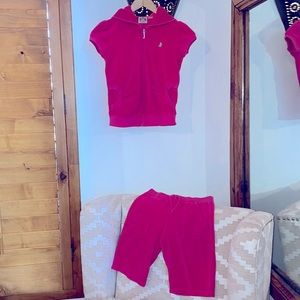 Juicy Couture Sz Youth 10 Terry Cloth Track Suit